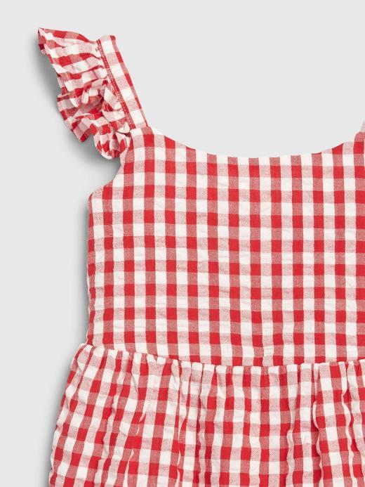 Kız Bebek Kırmızı Pötikareli Elbise