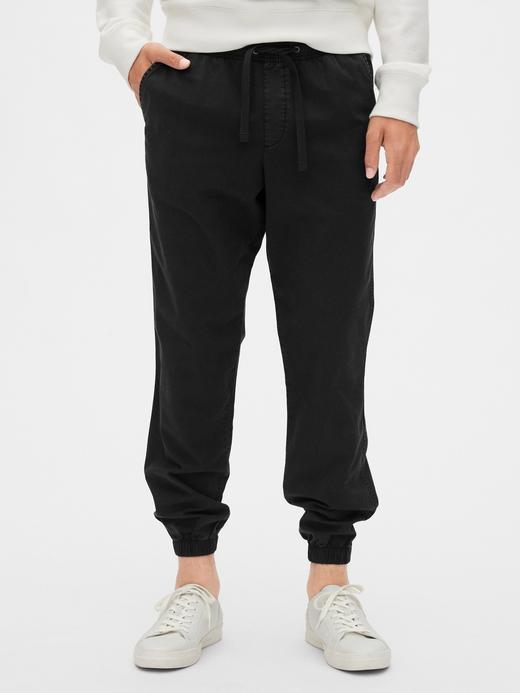 Erkek Siyah Slim Jogger Pantolon