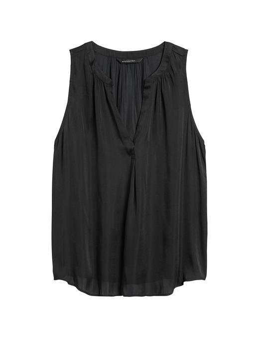 Kadın Siyah Saten Bluz