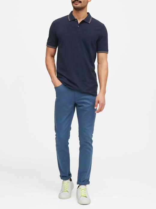 Erkek Lacivert Pique Polo Yaka T-Shirt