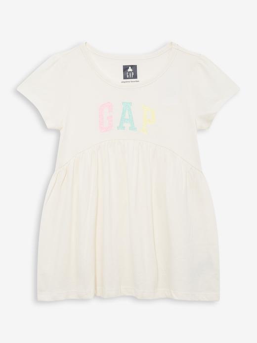 Kız Bebek Bej Gap Logo Çiçekli Tunik T-Shirt