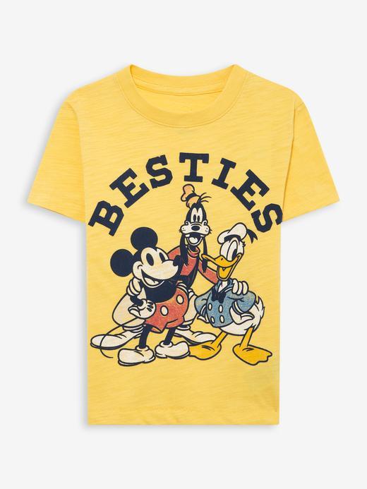 Erkek Bebek Sarı Disney Mickey Mouse T-Shirt