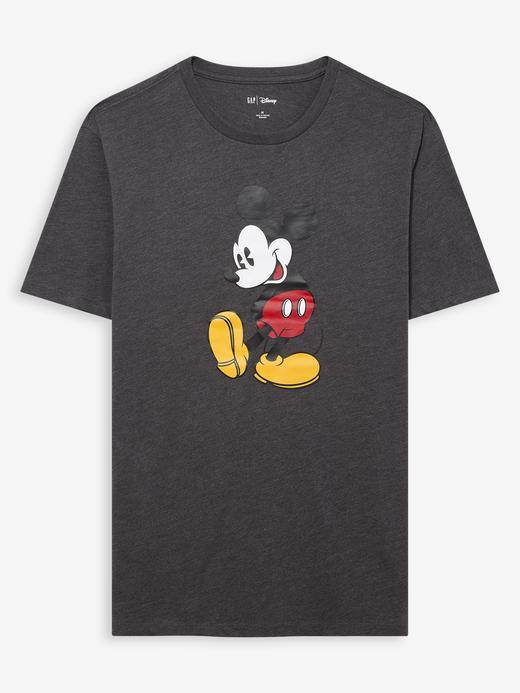 Erkek Gri Disney Mickey Mouse T-Shirt