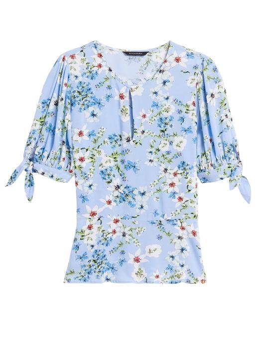 Kadın Mavi EcoVero™ Peplum Bluz