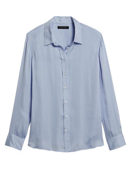 Kadın Mavi Dillon Classic-Fit Gömlek