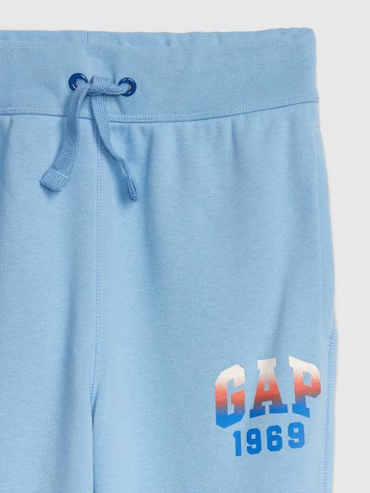 Erkek Çocuk Mavi Gap Logo Slim Fit Eşofman Altı