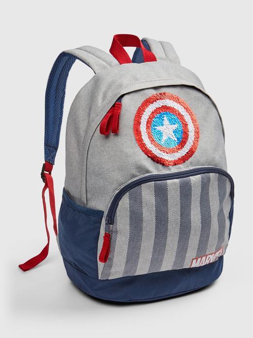 Erkek Çocuk Gri Marvel© Captain America Sırt Çantası