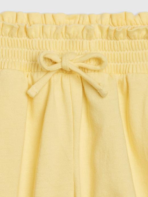 Kız Bebek Sarı Pull-On Şort