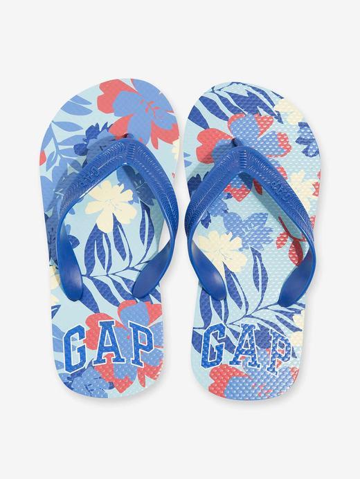 Erkek Çocuk Mavi Gap Logo Parmak Arası Terlik