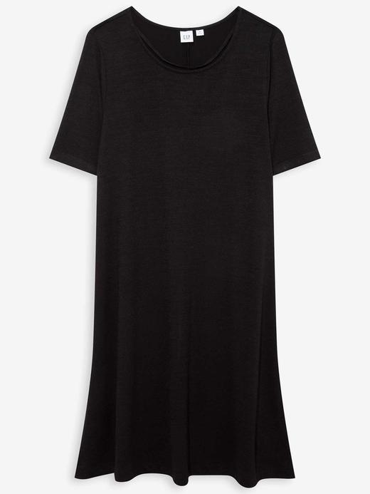 Kadın Siyah Yumuşak Dokulu Swing Elbise