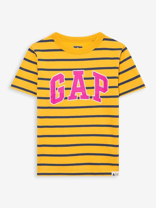 Erkek Bebek Sarı Gap Logo Kısa Kollu T-Shirt
