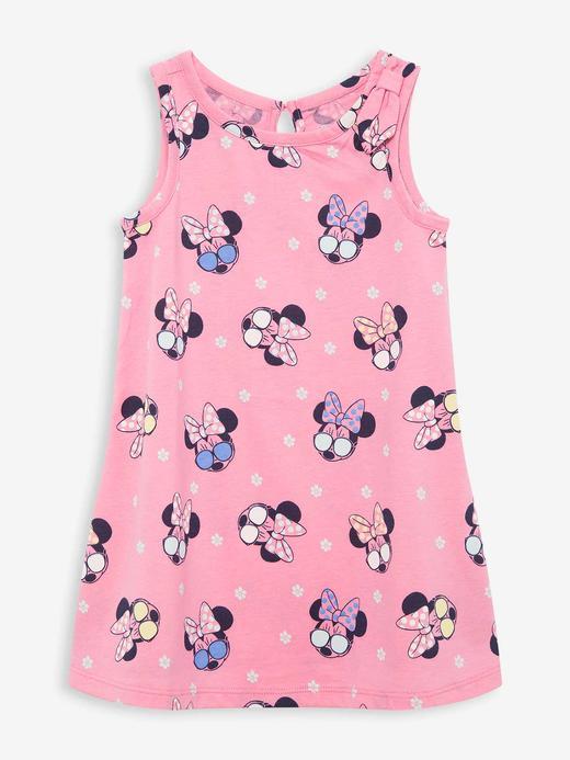 Kız Bebek Pembe Disney Minnie Mouse Elbise