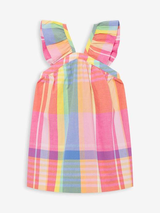 Kız Bebek Çok renkli Ekose Fırfırlı Elbise