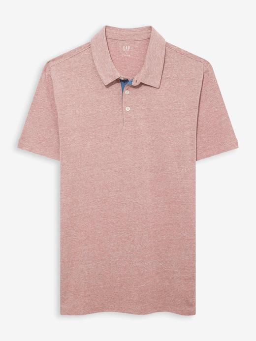 Erkek Kırmızı Polo Yaka Jarse T-Shirt