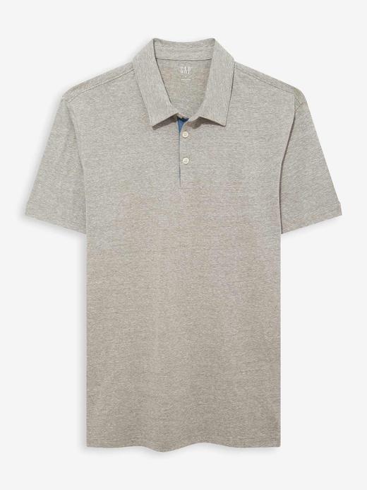 Erkek Siyah Polo Yaka Jarse T-Shirt
