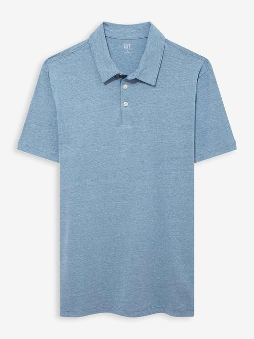 Erkek Mavi Polo Yaka Jarse T-Shirt