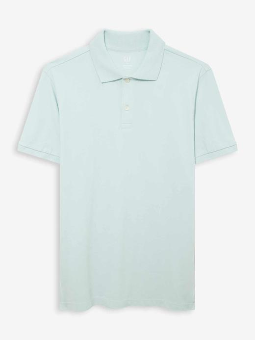 Erkek Mavi Pique Kısa Kollu Polo T-Shirt