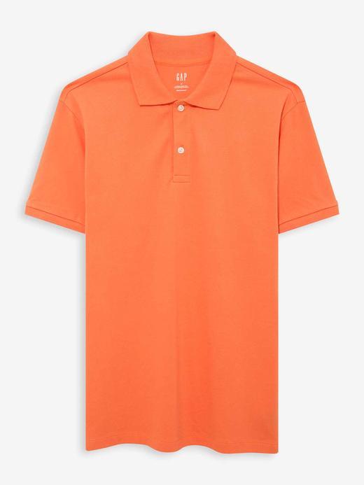 Erkek Turuncu Pique Kısa Kollu Polo T-Shirt