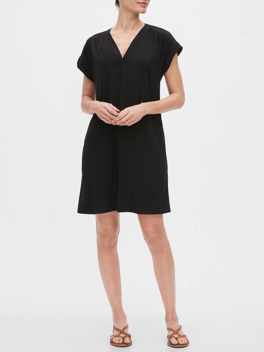 Kadın Siyah V Yaka Elbise