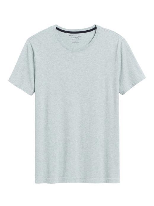 Erkek Yeşil Soft Wash Yuvarlak Yaka T-Shirt