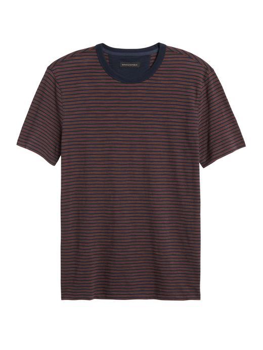 Erkek Lacivert Vintage Kısa Kollu T-Shirt