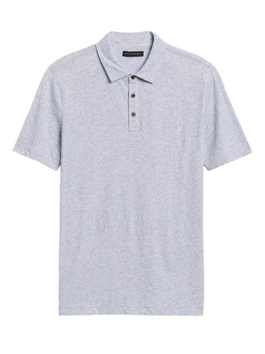 Erkek Mavi Vintage Polo Yaka T-Shirt