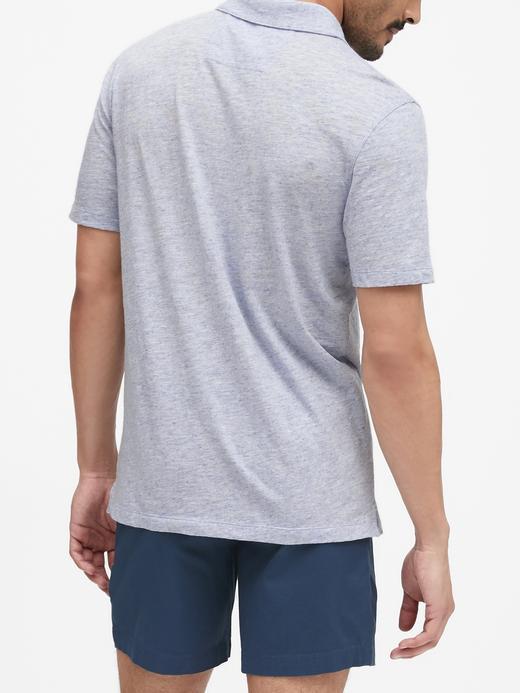 Erkek Siyah Vintage Polo Yaka T-Shirt