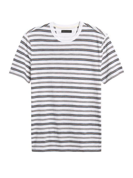 Erkek Beyaz Vintage Kısa Kollu T-Shirt