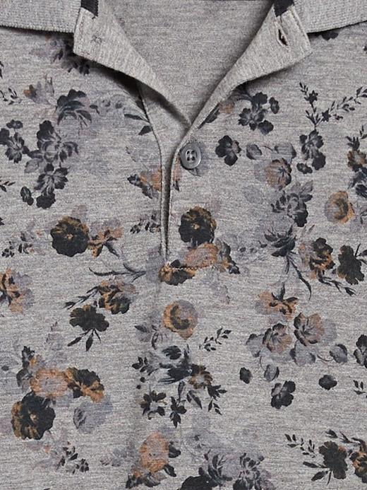 Erkek Gri Luxury-Touch Polo Yaka T-Shirt