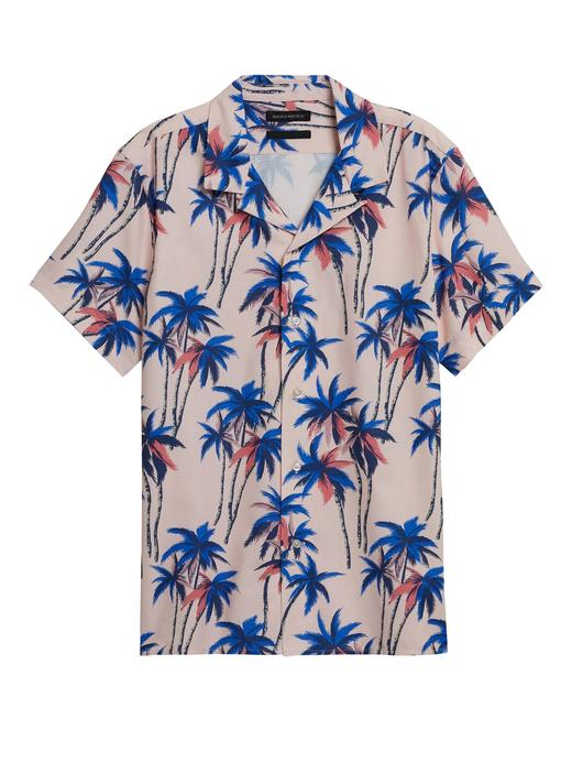 Erkek Pembe Slim Kısa Kollu Gömlek