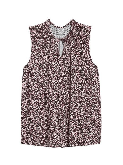 Kadın Çok renkli Desenli Modal Bluz