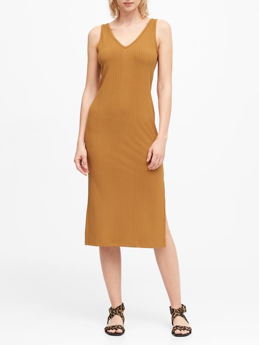 Kadın Sarı Fitilli Midi Elbise