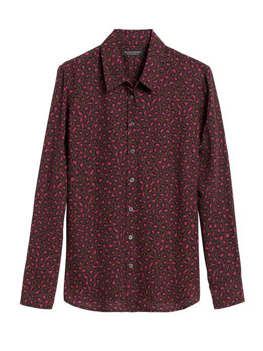 Kadın Mor Dillon Classic-Fit Gömlek
