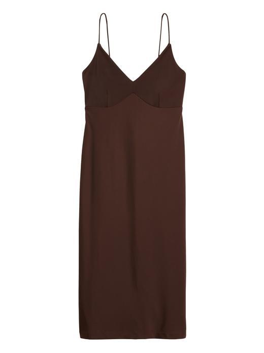 Kadın Kahverengi Askılı Kırışıklığa Karşı Dayanıklı Elbise