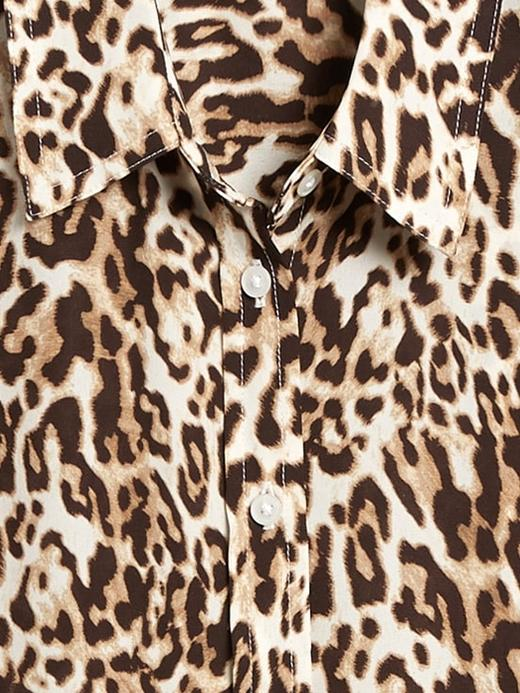 Kadın Kahverengi Dillon Classic-Fit Gömlek