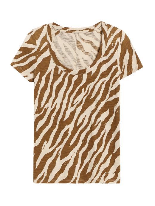 Kadın Bej Yuvarlak Yaka Kısa Kollu T-Shirt