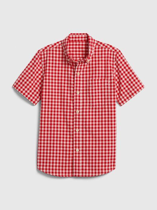 Erkek Çocuk Kırmızı Ekose Gömlek