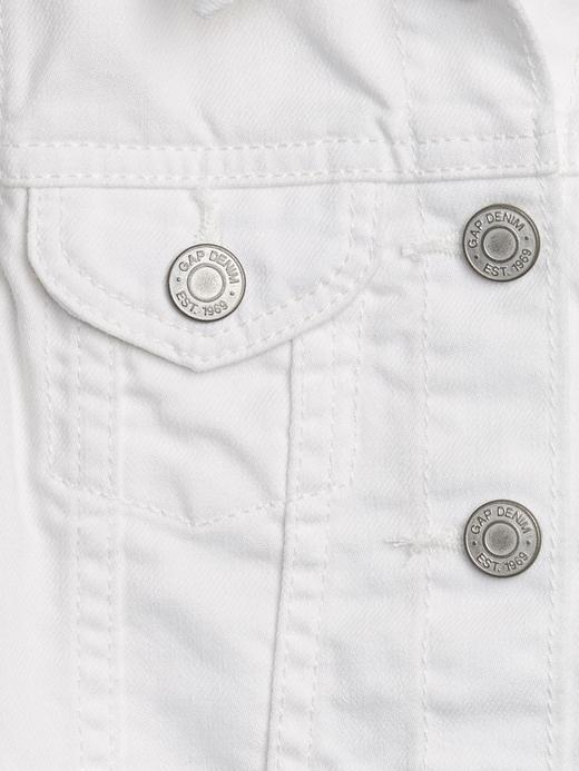 Kız Bebek Beyaz Denim Ceket