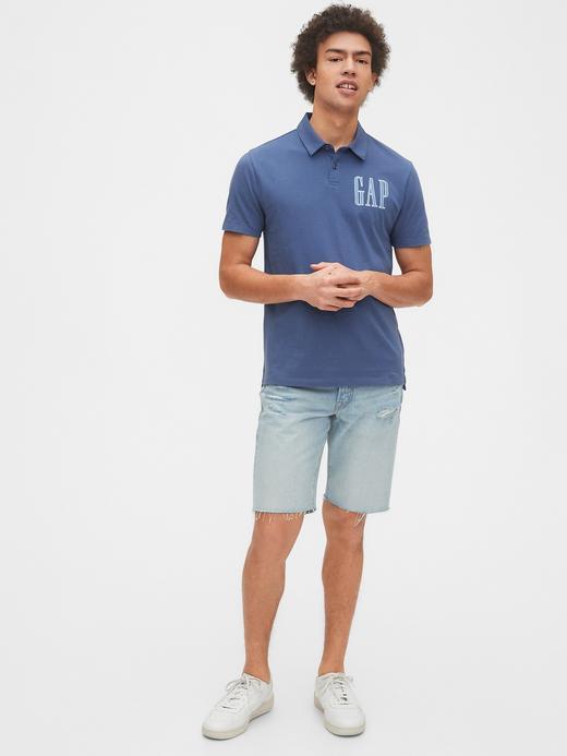 Erkek Gri Gap Logo Polo Yaka T-Shirt