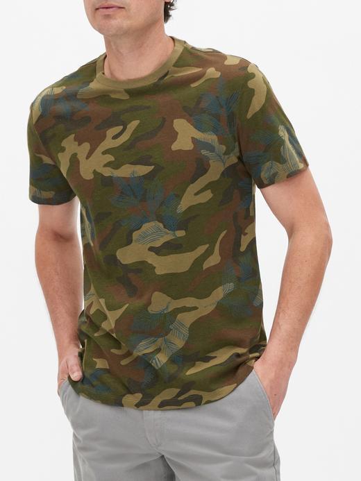 Erkek Yeşil Yuvarlak Yaka Kısa Kollu T-Shirt