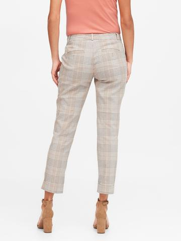 Kadın Bej Avery Straight-Fit Ankle Pantolon