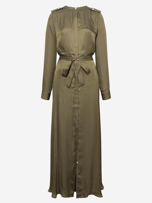 Kadın Yeşil Uzun Kollu Maxi Elbise
