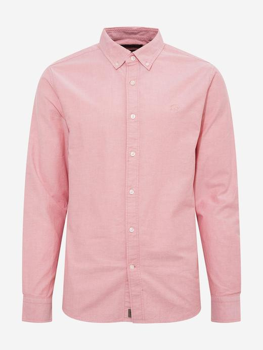 Erkek Pembe Untucked Slim Oxford Gömlek