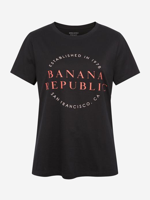 Kadın Siyah Grafik Desenli Kısa Kollu T-Shirt