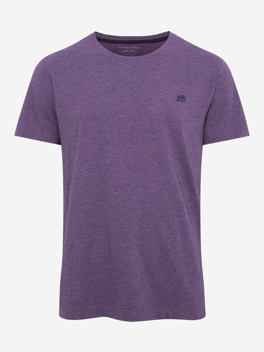 Erkek Mor Kısa Kollu T-Shirt