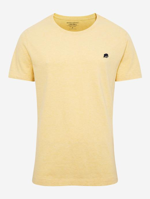 Erkek Sarı Kısa Kollu T-Shirt