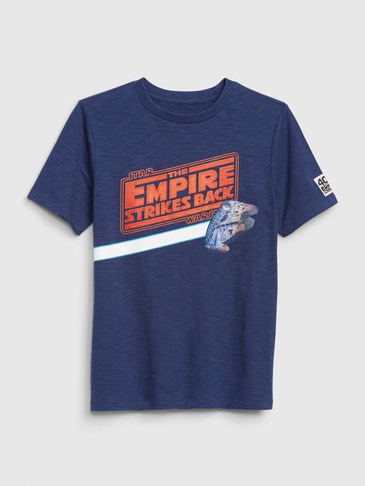 Erkek Çocuk Mavi Star Wars ™ Hologram Grafik T-Shirt