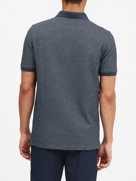 Erkek Lacivert Pique Kısa Kollu Polo T-Shirt