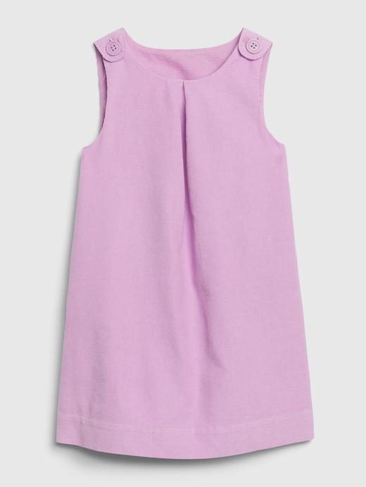 Kız Bebek Pembe Kolsuz Kadife Elbise