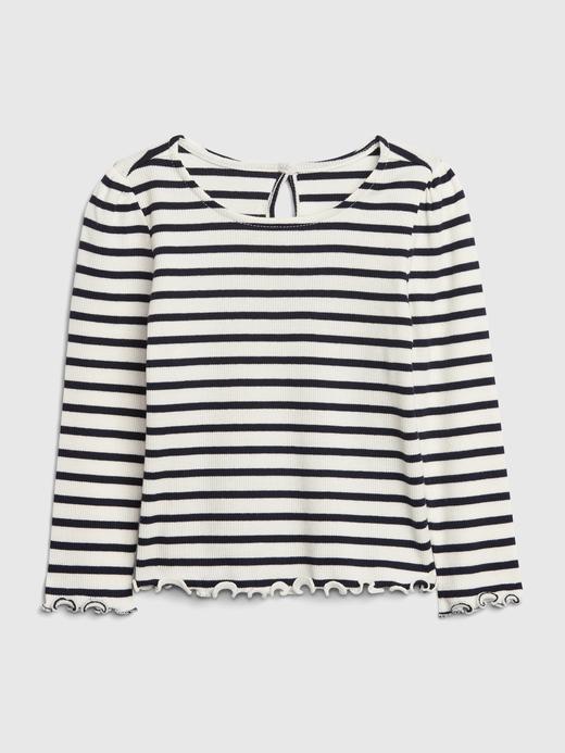 Kız Bebek Lacivert Fitilli Uzun Kollu T-Shirt